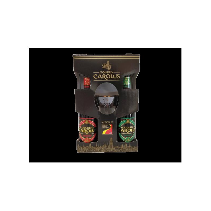 COFFRET CAROLUS 4X33CL + 1 VERRE