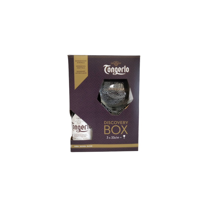 COFFRET TONGERLO 3X33CL + 1 VERRE