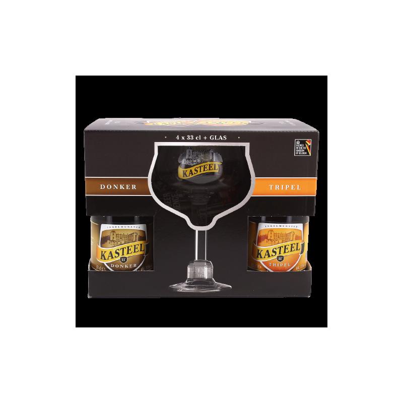 COFFRET KASTEEL 4X33CL + 1 VERRE